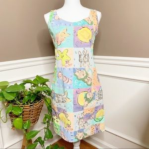 Silkscapes sleeveless hand painted dress C0429